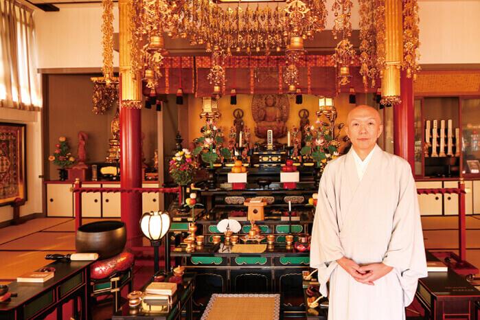 早稲田宝泉寺の住職の写真